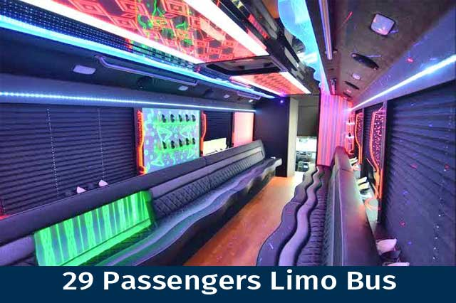 29 Passenger Limo Bus Party Central!